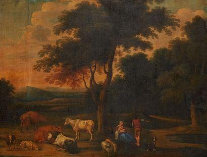 Ecole hollandaise vers 1800, suiveur d'Adrien VAN DE VELDE