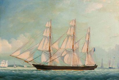 Segrella 1858 Trois mâts Toile 43,5 x 65...