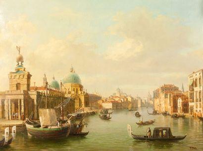 A Porte Vue de Venise Huile sur toile 80...