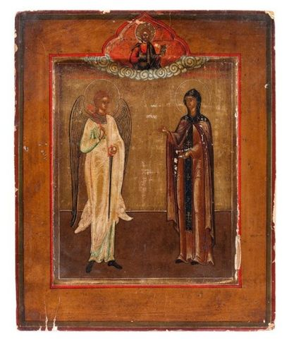 Icône de Sainte Eudoxie et l'archange saint...