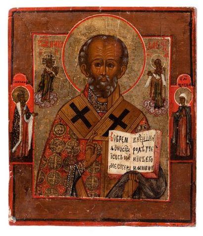 Icône de Saint Nicolas le Thaumaturge. Russie...