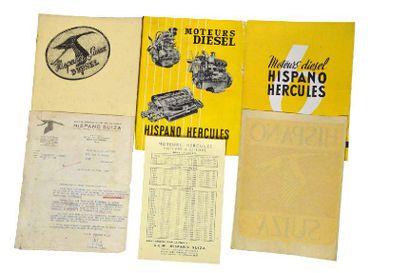 Lot de documents Hispano-Suiza ainsi qu'un...