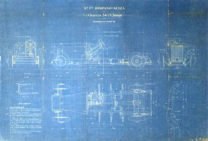Société Hispano-Suiza, schéma technique du...