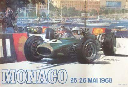 Affiche originale Grand Prix de Monaco 1968...