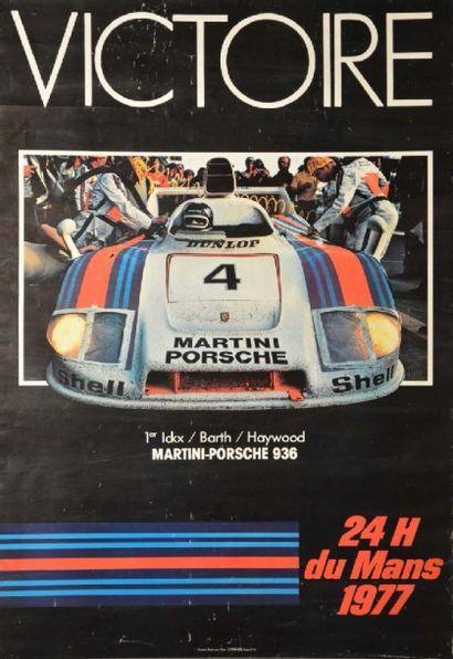 Affiche originale Victoire Porsche 936 aux...