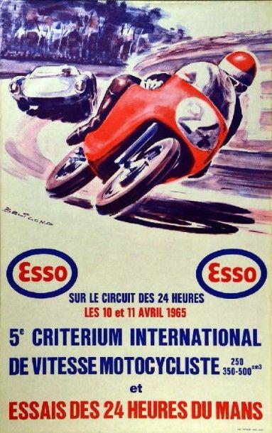 Affiche originale Essais des 24h du Mans...