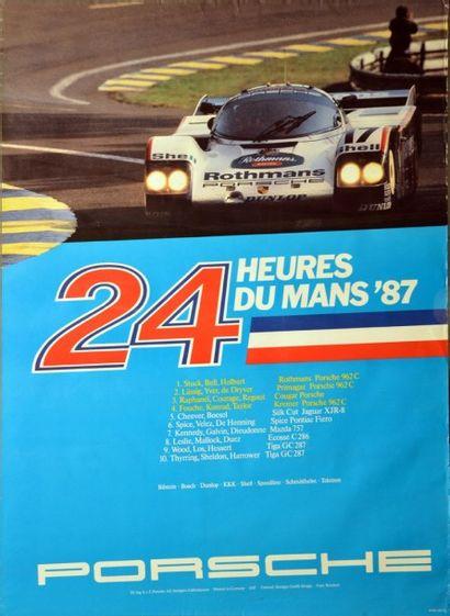 Affiche originale Victoire Porsche 962 aux...