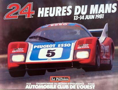 Affiche 24H DU MANS 1981 53 X 38 cm .