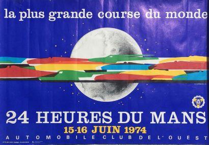 Affiche 24H DU MANS 1974 » Imp. Le pilier...