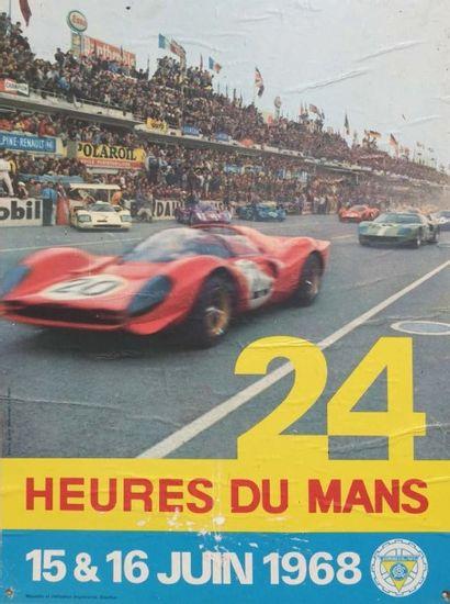 Affiche 24H DU MANS 1968 Imp. Oberthur, Ph....