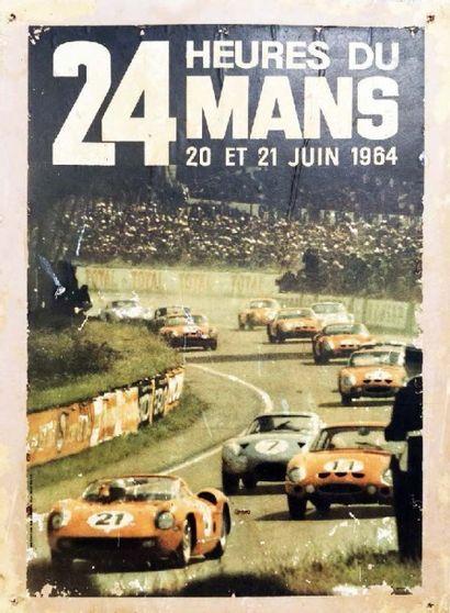 Affiche 24H DU MANS 1965 Imp. Oberthur, Ph....