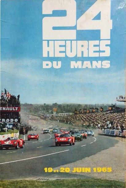 Affiche 4H DU MANS 1964 Imp. Thivillier 38...