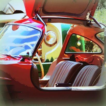 Peinture Mercedes 300 SL numéro 3 sur 7 exemplaires...