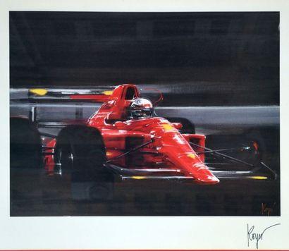 Lithographie représentant la Formule 1 N°1...