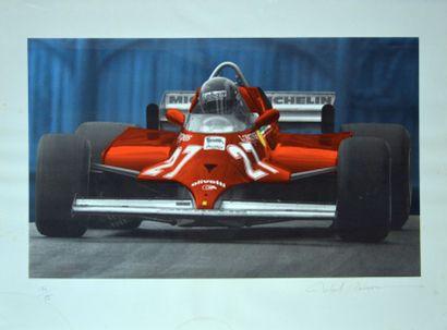 Lithographie Ferrari Formule 1 type 126CK...