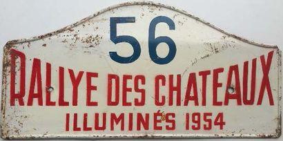 Plaque Rallye des Chateaux illuminés. Concurrent...