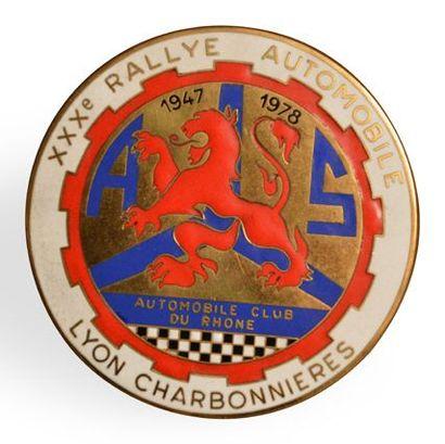 Plaque du Rallye Lyon Charbonnières