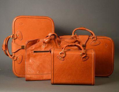 Set de trois valises de marque Schedoni et...