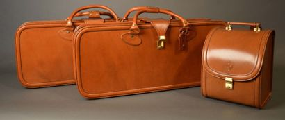 Set de trois valises de marque Schedoni pour...