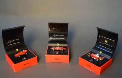 Lot de 3 Ferrari Formule 1 échelle 1/43e...