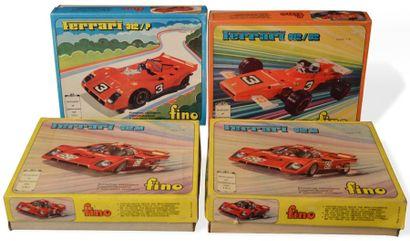 Lot de quatre voitures Ferrari échelle 1/16e...