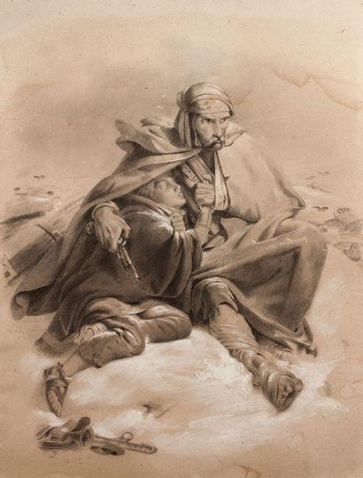 Emma BOULLAM, d'après Henri Félix PHILIPPOTEAUX (Active au XIXème siècle)