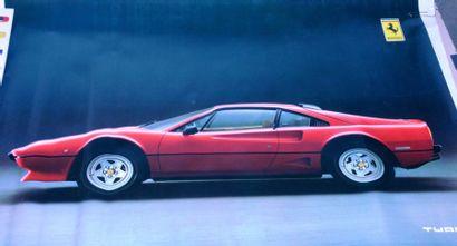FERRARI Poster d'une Ferrari turbo 68x98...