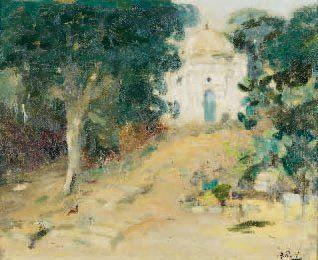 Élie-Anatole PAVIL (1873-1948) Marrakech Huile sur carton, signée en bas à droite...