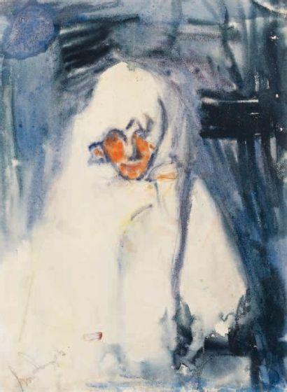 Boris ANISFELD (1879-1973) Portrait de la femme de l'artiste, circa 1904/05 Aquarelle...