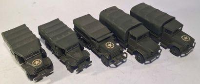 Lot de 5 camions militaires SOLIDO comprenant...