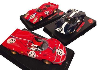 Lot comprenant 3 voitures de circuit slot...
