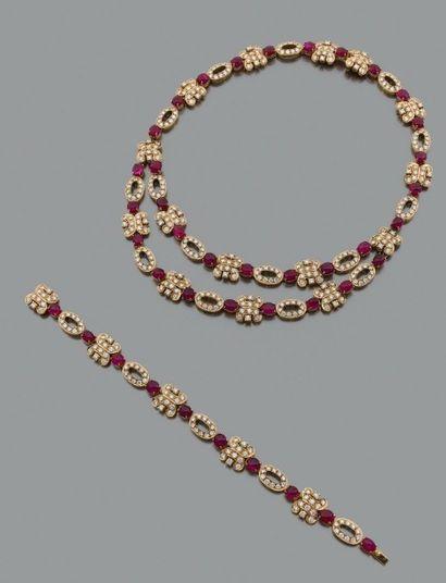 Parure composée d'un collier et d'un bracelet...
