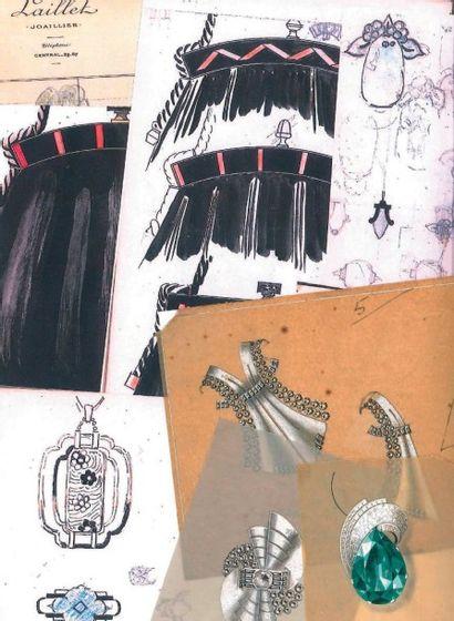 Carnet de croquis et dessins de la Joaillerie...