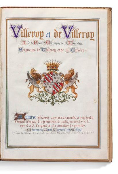 Généalogie de la famille de Villeroy Ile...