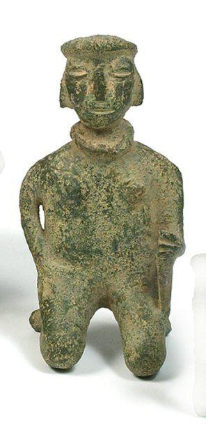 Figure anthropomorphe Bronze. H.: 10 cm Vietnam. Culture de Dông Son / période Giao...