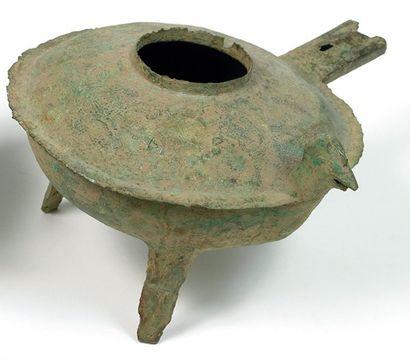 Verseuse Bronze. L.: 22 cm Vietnam. Culture de Dông Son / Période Giao Chi. ca 1°-3°...
