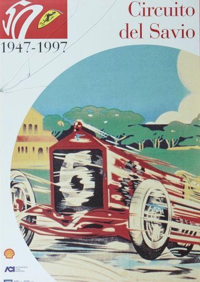 Ferrari Ensemble de 8 posters encadrés édités...