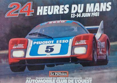 24 Heures du Mans 1981 Affiche originale...
