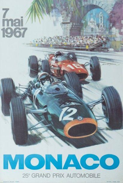 Grand Prix de Monaco 1967 Affiche originale...