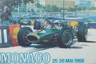 Grand Prix de Monaco 1968 Affiche originale...