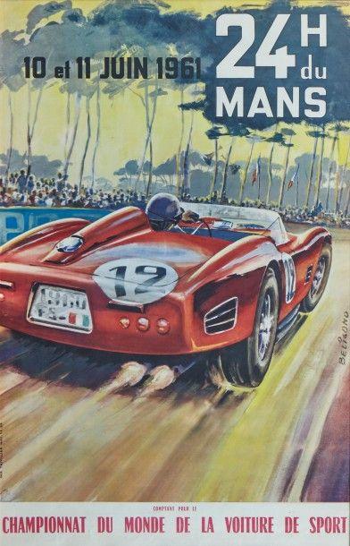 24 Heures du Mans 1961 Affiche originale...