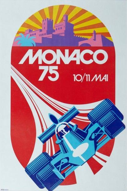 Grand Prix de Monaco 1975 Affiche originale...