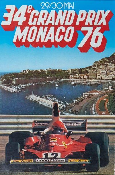 Grand Prix de Monaco 1976 Affiche originale...