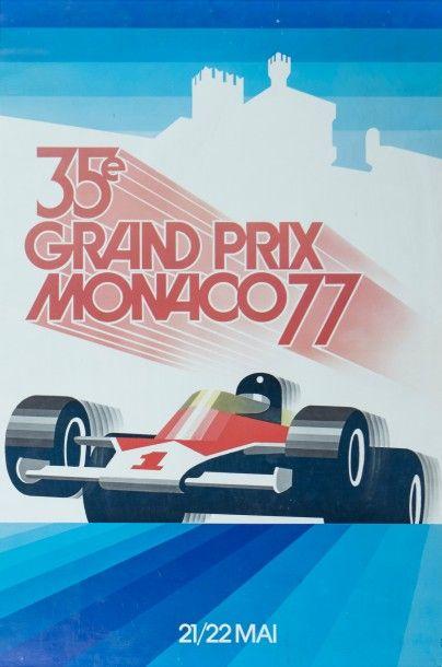 Grand Prix de Monaco 1977 Affiche originale...