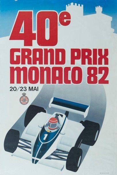 Grand Prix de Monaco 1982 Affiche originale...