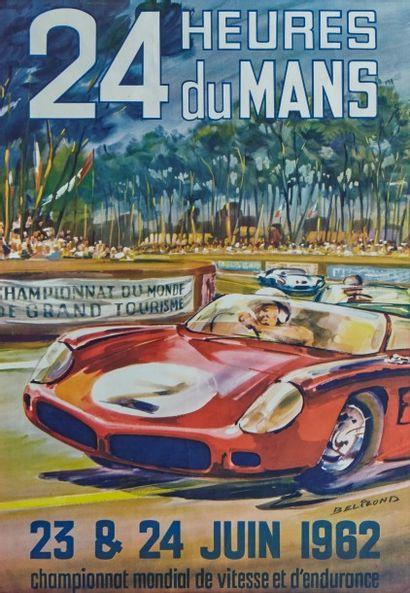 24 Heures du Mans 1962 Affiche originale...