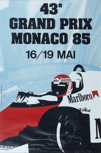 Grand Prix de Monaco 1985 Affiche originale...