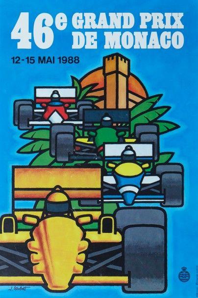 Grand Prix de Monaco 1988 Affiche originale...