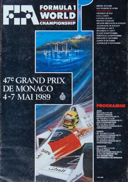 Grand Prix de Monaco 1989 Affiche originale...