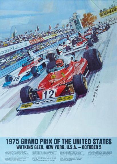 Grand Prix des Etats-Unis 1975 Affiche originale...